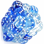 Blue & White Nebula 12mm D6 Dice Block